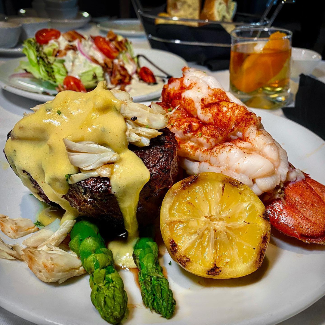 Filet Oscar Style with Lobster Tail